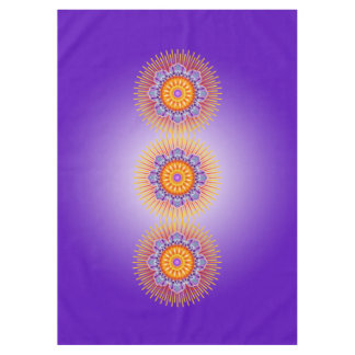 Mandala Rays Yellow Violet + your ideas Tablecloth