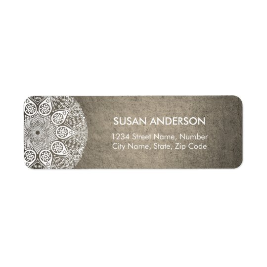Mandala Return Address Label