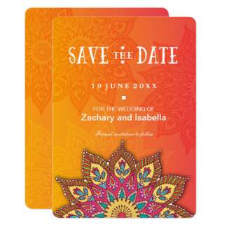 Mandala Save the Date Invitation