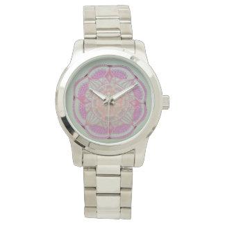 Mandala Silver Bracelet Watch