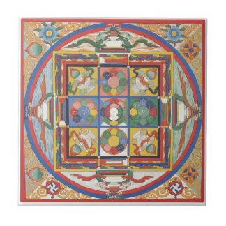 Mandala square tile
