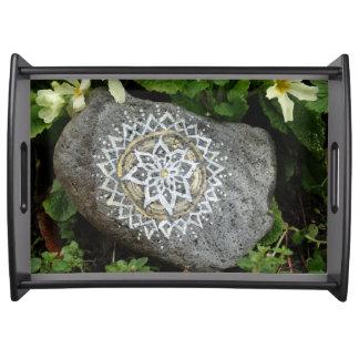 Mandala Stone Serving Tray