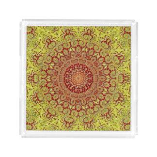 Mandala Style Acrylic Tray