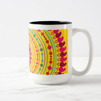 Mandala Two-Tone Coffee Mug