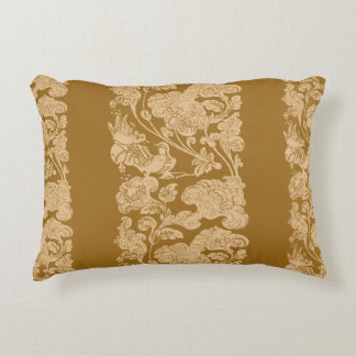 mandarin duck golden age decorative cushion