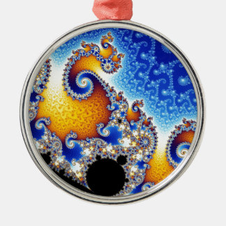 Mandelbrot Set Satellite Double Spiral Fractal Christmas Ornament