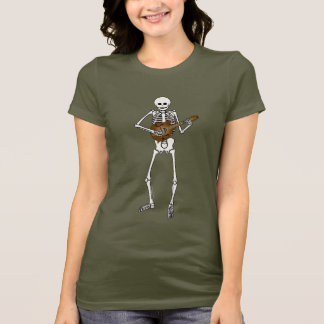 Mandolin Playing Skeleton T-Shirt