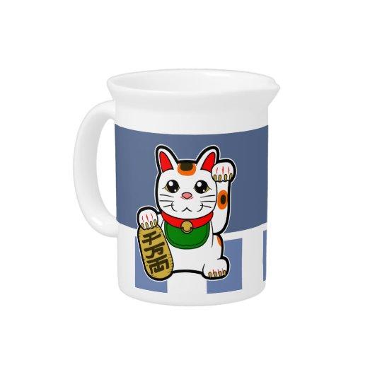 Maneki Neko: Japanese Lucky Cat Drink Pitcher