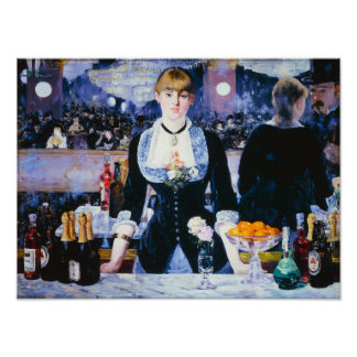 Manet Bar at the Folies Bergere Poster