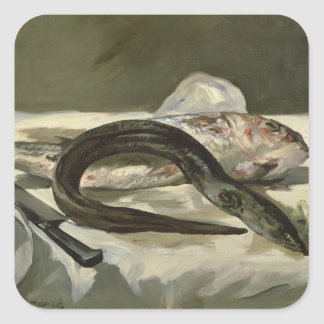Manet | Eel and Red Mullet, 1864 Square Sticker