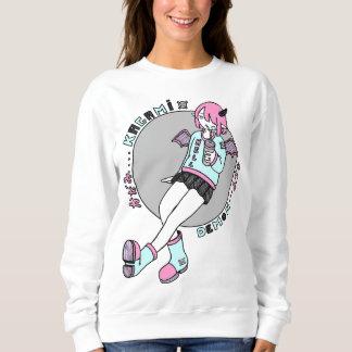 manga demon girl pink sweatshirt