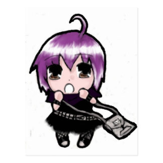 Manga Mizuki Pink Post Cards