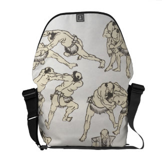 Manga: studies of gestures and postures of wrestle courier bags