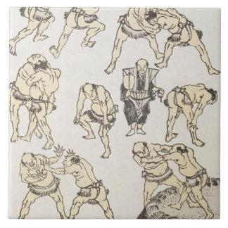Manga: studies of gestures and postures of wrestle tile