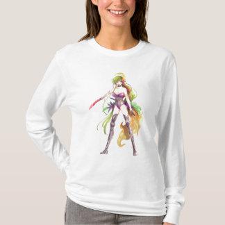 Manga Warrior Woman White Long Sleeve T-Shirt