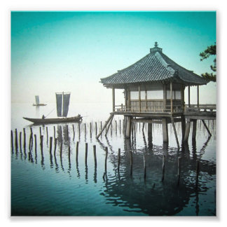 Mangetsu-ji Temple Beside Lake Biwa in Ōtsu Japan Photographic Print