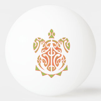 Mango and Lime Turtle Tattoo Ping Pong Ball
