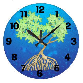 Mangrove Tree Large Clock