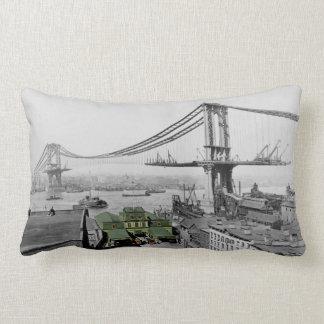 Manhattan Bridge Vintage Photo Lumbar Cushion