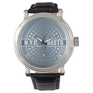 Manhole Cover Brooklyn Blue Watch