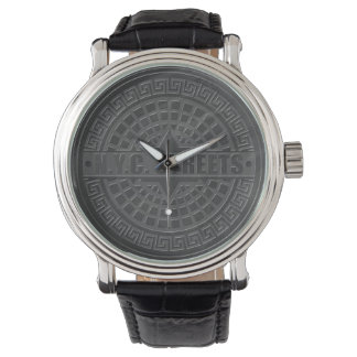 Manhole Covers Black Marble Watch