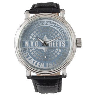 Manhole Staten Island Blue Watch