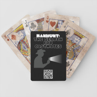 Manhunt: The Search for Castmates Bicycle Playing Cards