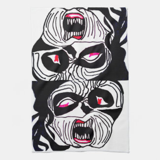 MANIACAL HALLOWEEN CLOWN towel