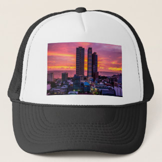 Manila Philippines Skyline Trucker Hat