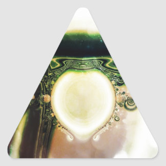Manipulated Fractal Triangle Sticker
