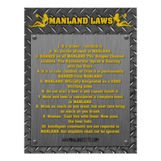 MANLAND LAWS Framed Print