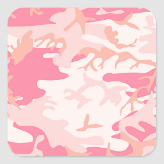 Manly Pink Camo Square Sticker