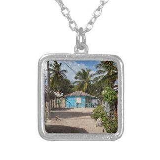 Mano Juan village in Saona Domenican Republic Silver Plated Necklace