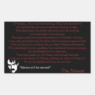 Manos Prayer Rectangular Sticker