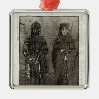 Manuel I Comnenus  and Empress Maria of Antioch Christmas Ornament