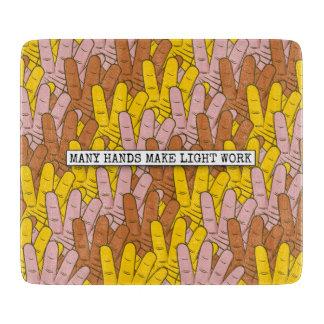 Many Hands Make Light Work Cutting Board