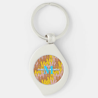 Many Hands Make Light Work Pattern Key Ring