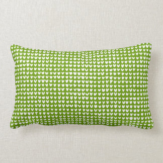 many hearts(white)(lumbar) throw pillow