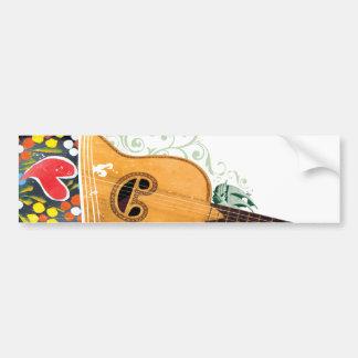 Many Symbols of Portugal - Portuguese Guitar Bumper Sticker