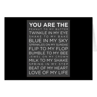 MANY WAYS I'LL SHOW MY LOVE-BRIDE TO GROOM GREETING CARD