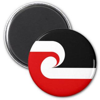 maori ethnic flag new zealand country 6 cm round magnet