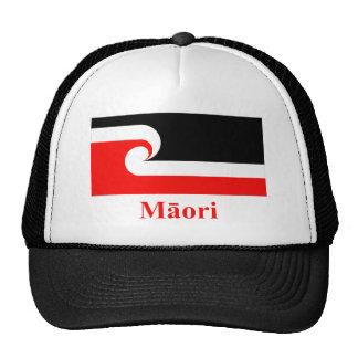 Maori Flag with Name in Maori Cap