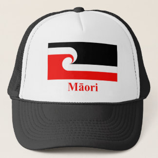 Maori Flag with Name in Maori Trucker Hat
