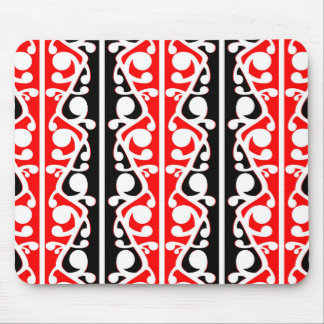 Maori Kowhaiwhai Tribal Pattern Mouse Pad
