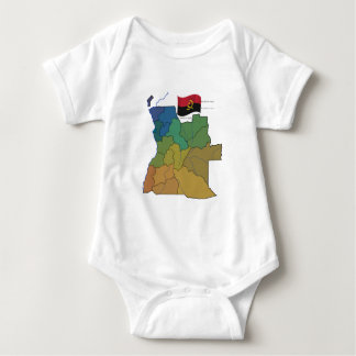 Map and Flag of Angola Baby Bodysuit
