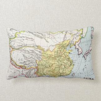 MAP: CHINA, 1910 LUMBAR CUSHION