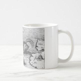 Map Monster/Sea Serpent Basic White Mug