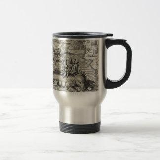 Map Monster/Sea Serpent Stainless Steel Travel Mug