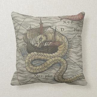 Map Monster/Sea Serpent Throw Cushion