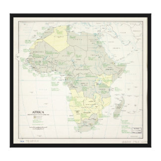 Map of Africa, Administrative Status (April 1962) Canvas Print